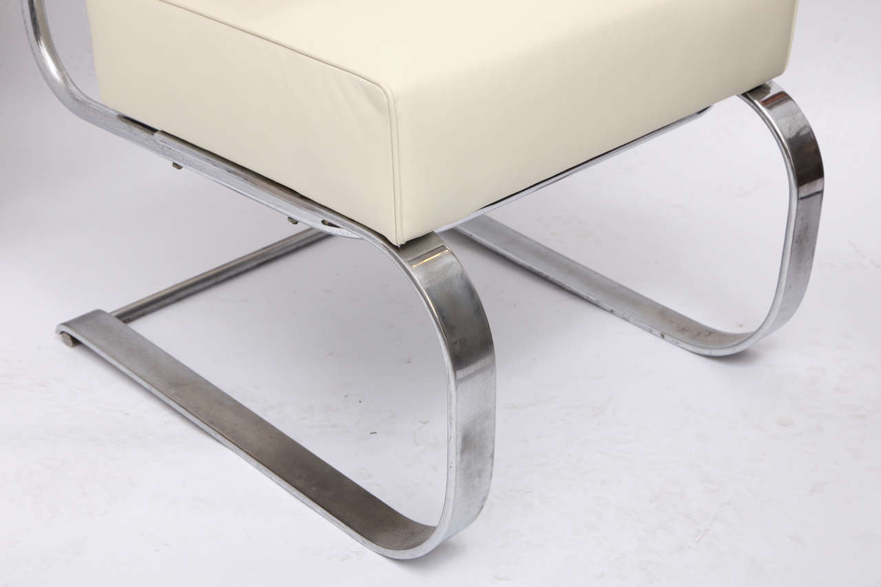 Polished Gilbert Rohde Lounge Chair Art Deco Machine Age, 1930s For Sale