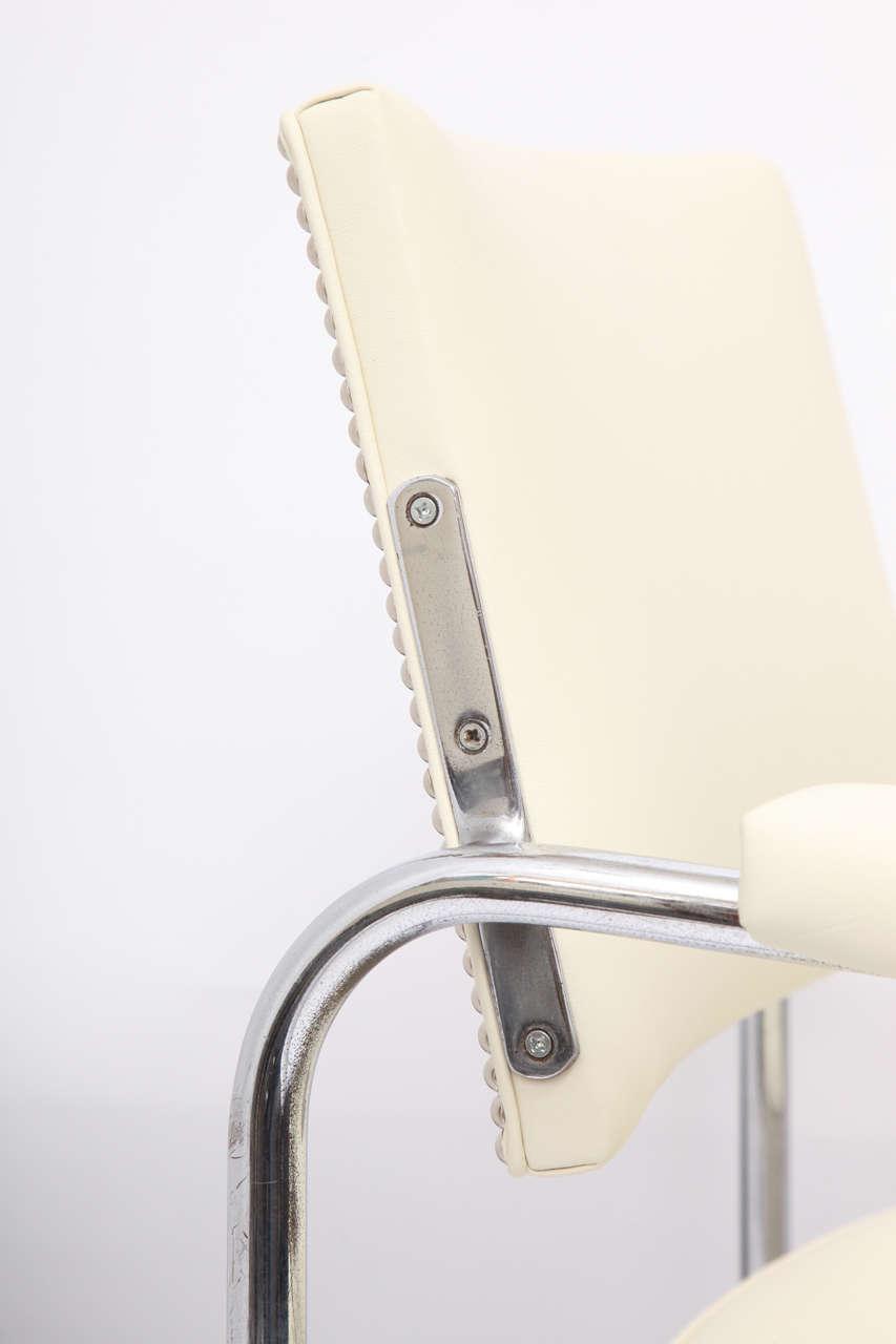 Chrome Gilbert Rohde Lounge Chair Art Deco Machine Age, 1930s For Sale