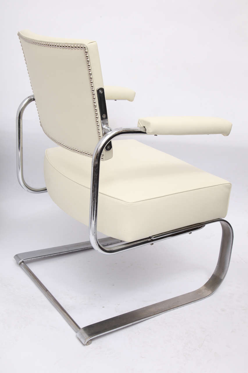 Gilbert Rohde Lounge Chair Art Deco Machine Age, 1930s For Sale 2