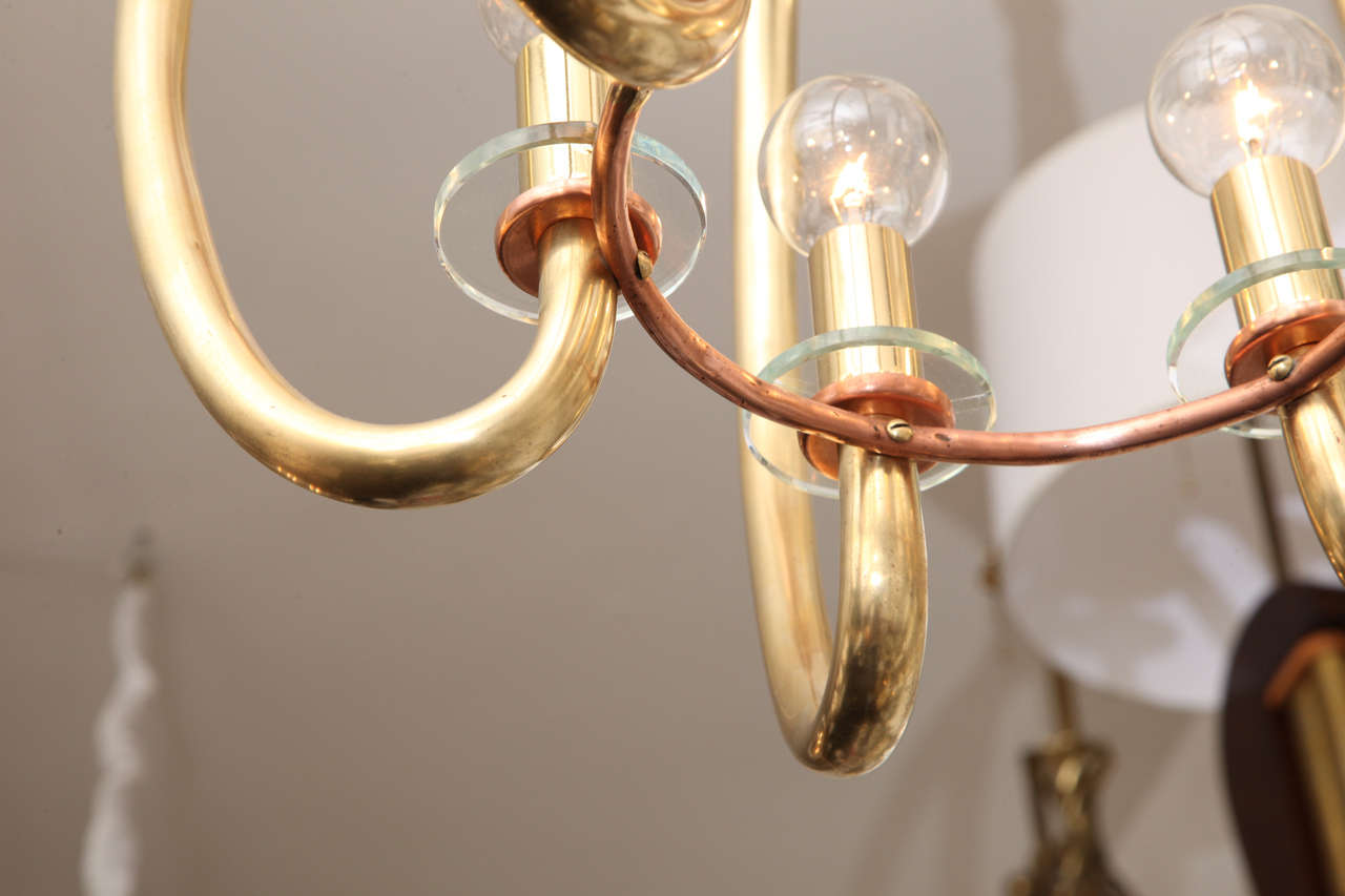 Brass 1930s Modernist German Art Deco Ceiling Fixture For Sale