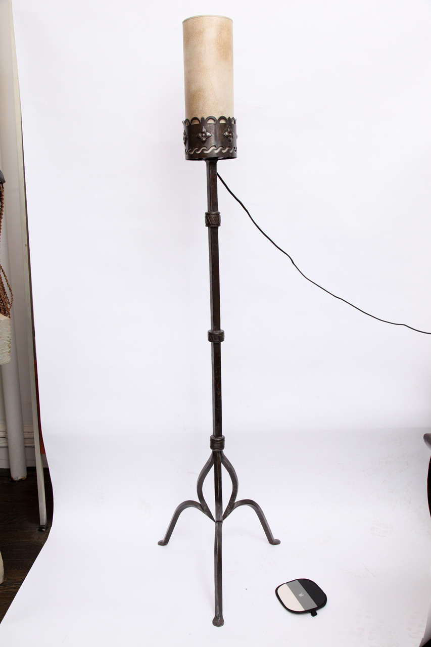 1920s American Arts And Crafts Floor Lamp By Samuel Yellin