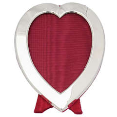 William Comyns Edwardian Sterling Silver Heart-Form Picture Frame