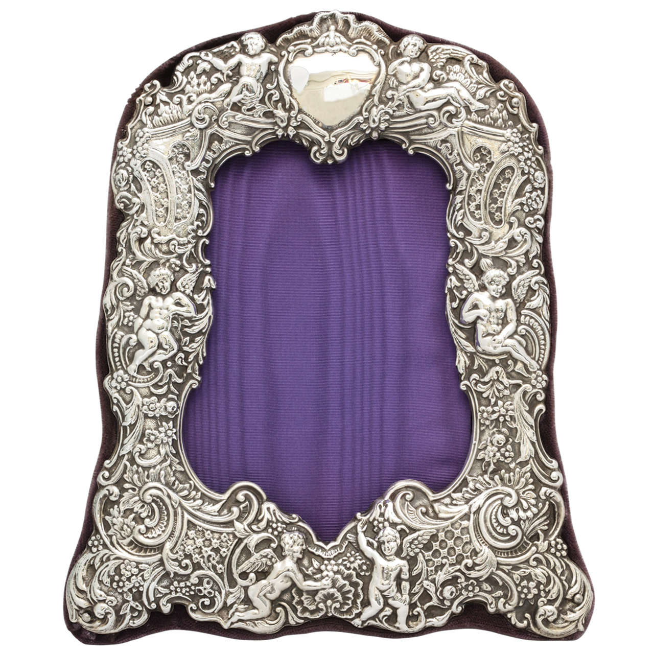 Victorian Sterling Silver Picture Frame at 1stdibs