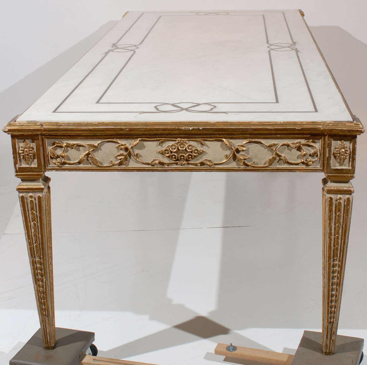 Large Continental Inlaid Marble Top Dining Table with  : abp492101 from www.1stdibs.com size 1280 x 1276 jpeg 110kB