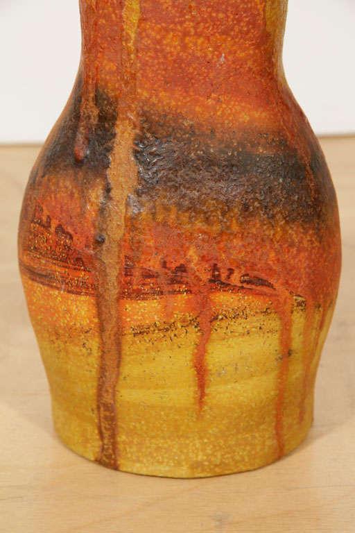 Mid-Century Modern Ceramic Vase by Marcello Fantoni For Sale