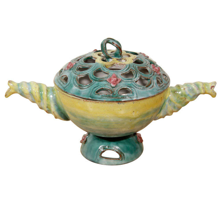 Rare Ceramic Lidded Bowl, by Vally Wieselthier