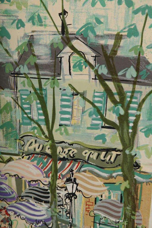 Paris Street Scene Watercolor For Sale 1