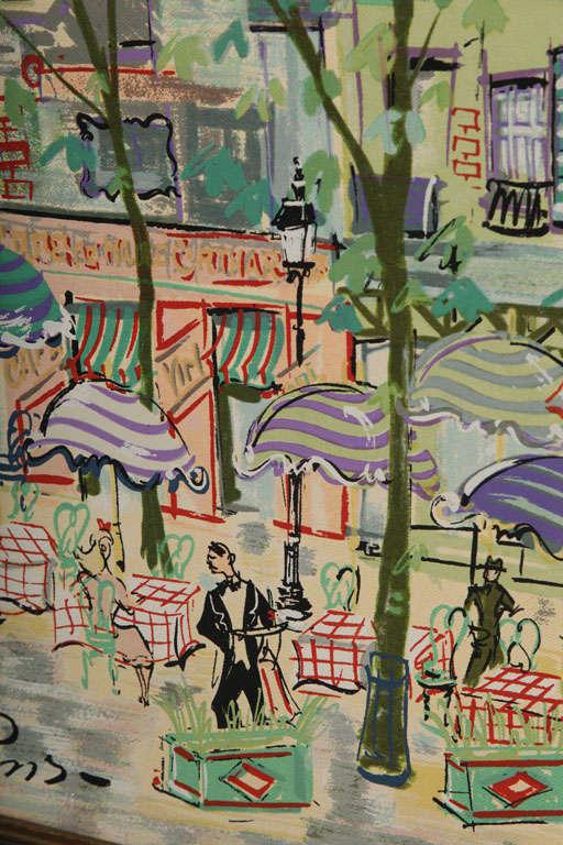 Paris Street Scene Watercolor For Sale 2