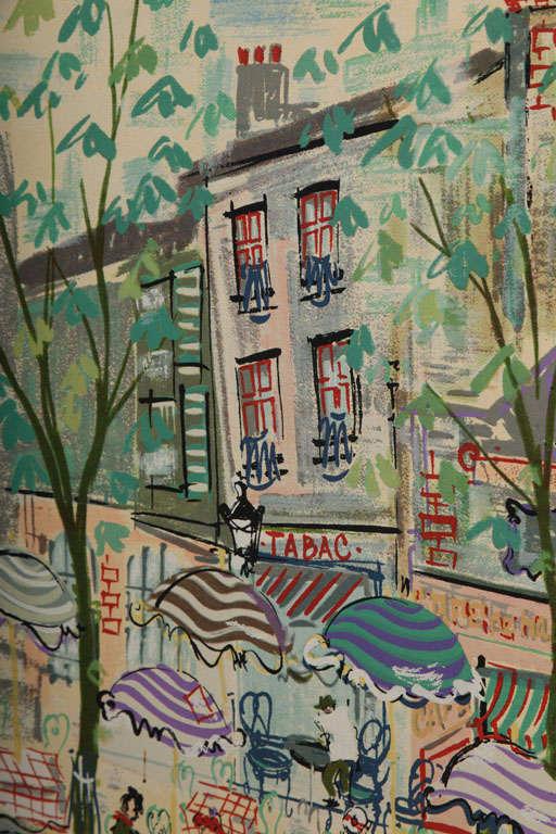 Paris Street Scene Watercolor For Sale 3