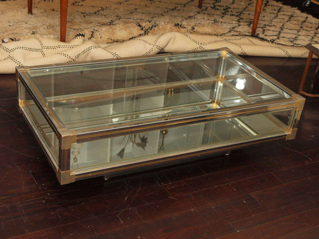 coffee table with display cabinet at 1stdibs