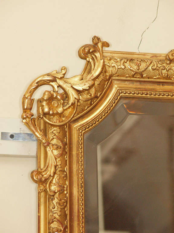 Antique French Louis Xvi Gold Leaf Beveled Mirror At 1stdibs