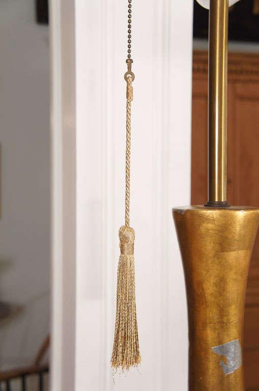 20th Century Modernist Gilt Table Lamp For Sale