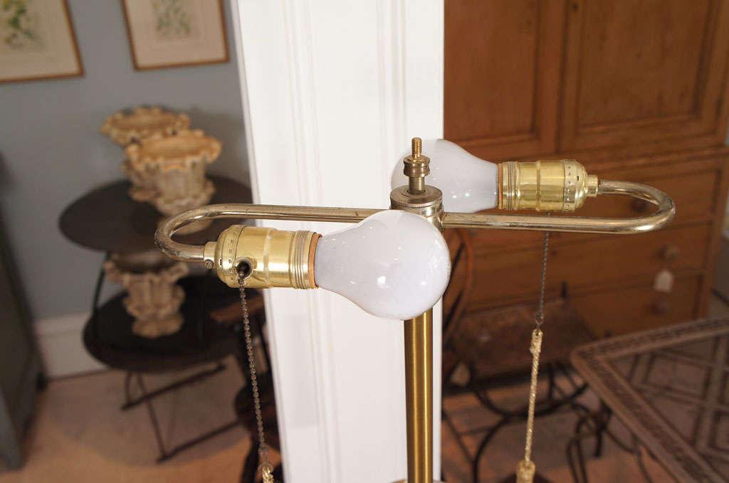 Ceramic Modernist Gilt Table Lamp For Sale