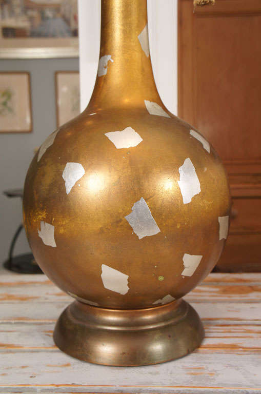 Modernist Gilt Table Lamp For Sale 2