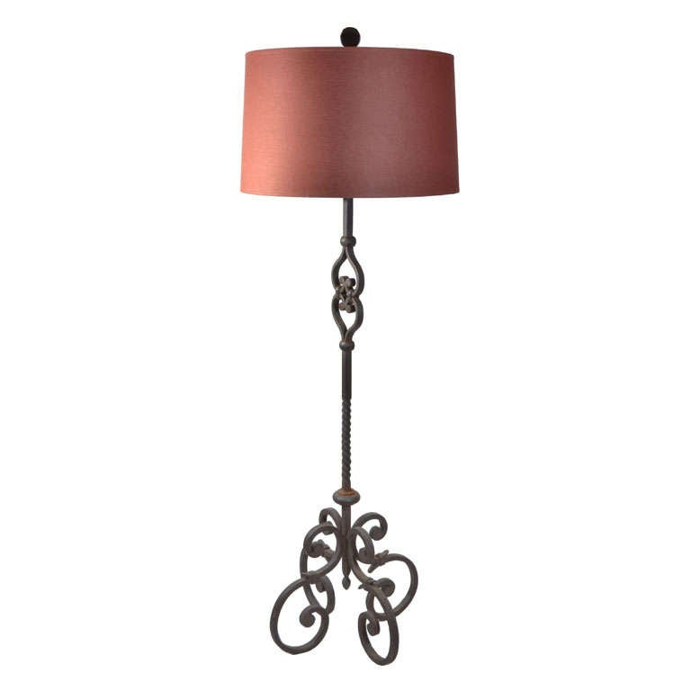 this wrought iron floor lamp is no longer available. Black Bedroom Furniture Sets. Home Design Ideas
