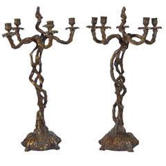 Cast Bronze Candelabra