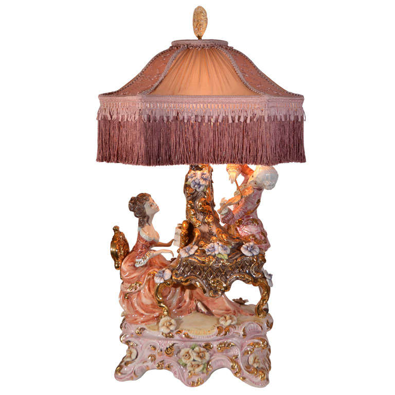 Capo Di Monte Muscians Table Lamp at 1stdibs