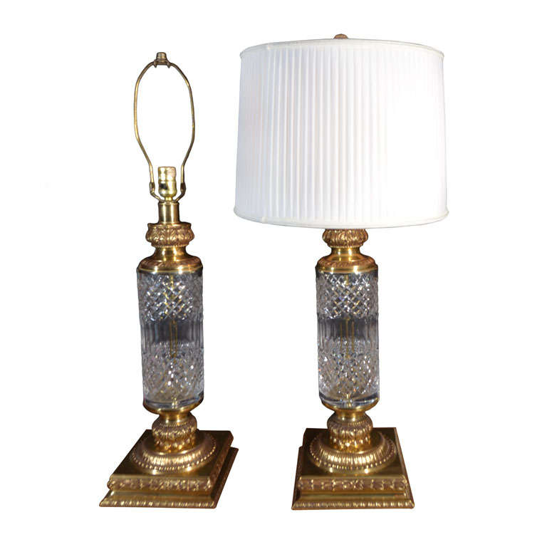 pressed glass table lamps at 1stdibs. Black Bedroom Furniture Sets. Home Design Ideas