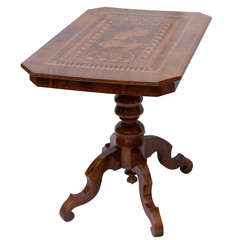 Italian Neo-Classical Walnut Tea Table