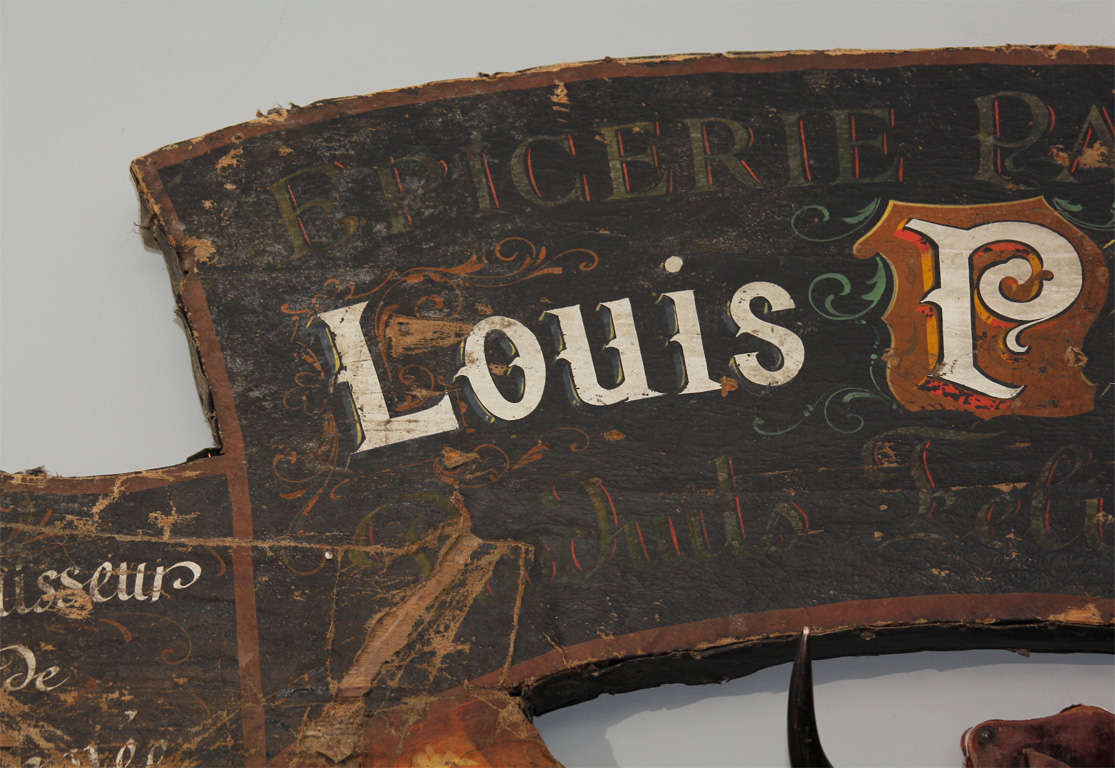 20th Century Large French Trade Sign For Sale