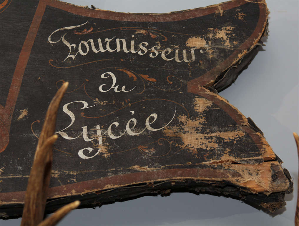 Large French Trade Sign For Sale 1
