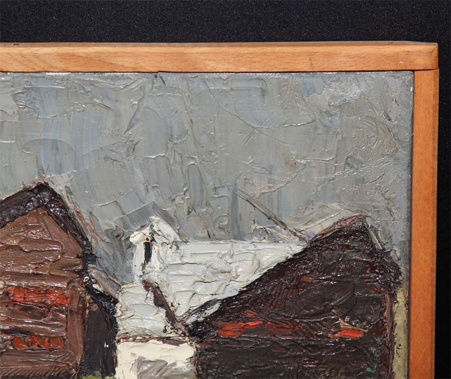 Mid-20th Century oil painting For Sale