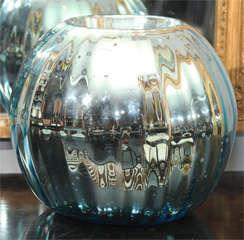 huge mercury glass rose bowl image 2