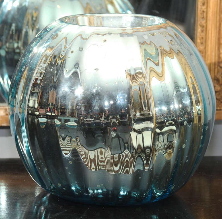 huge mercury glass rose bowl 2
