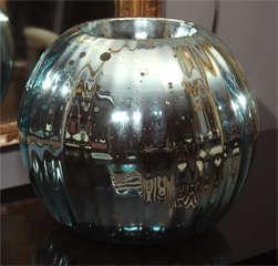 huge mercury glass rose bowl image 5