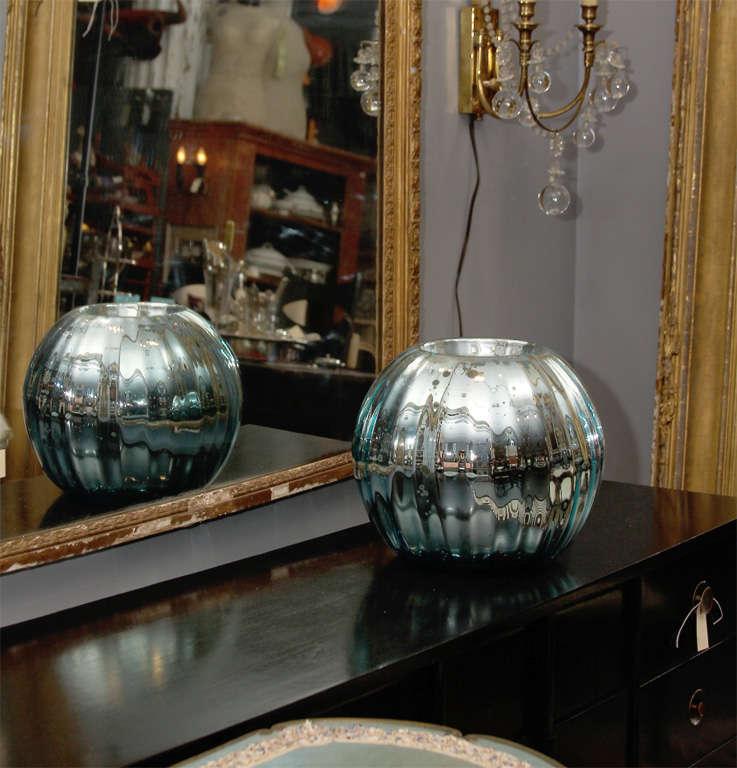 huge mercury glass rose bowl 7