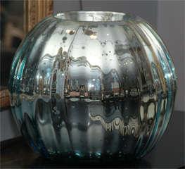 huge mercury glass rose bowl image 8