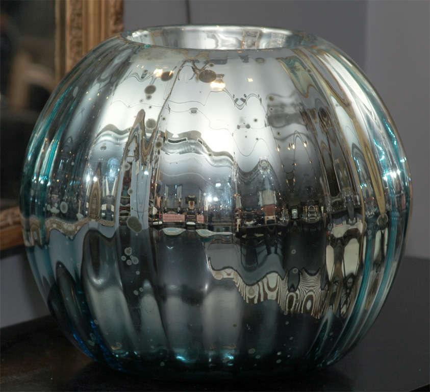 huge mercury glass rose bowl 8