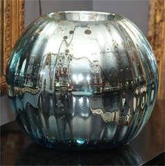 huge mercury glass rose bowl image 9