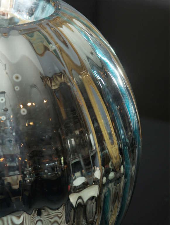 huge mercury glass rose bowl 10