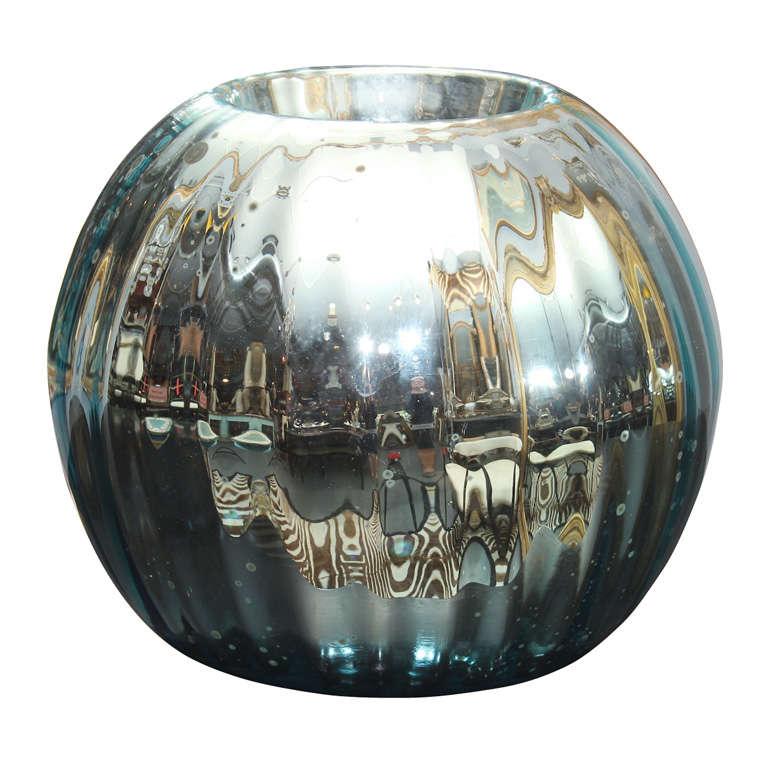 huge mercury glass rose bowl