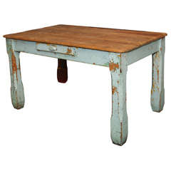old paint farm table