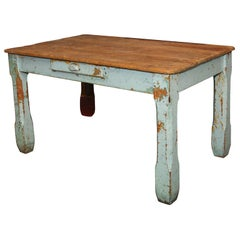 old paint farm table