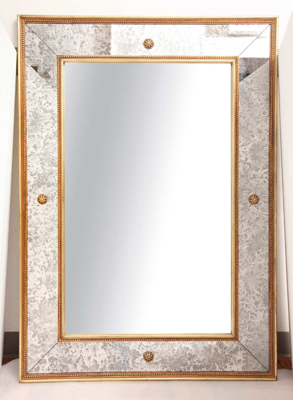 Elegant art deco wall mirror at 1stdibs for Elegant mirrors