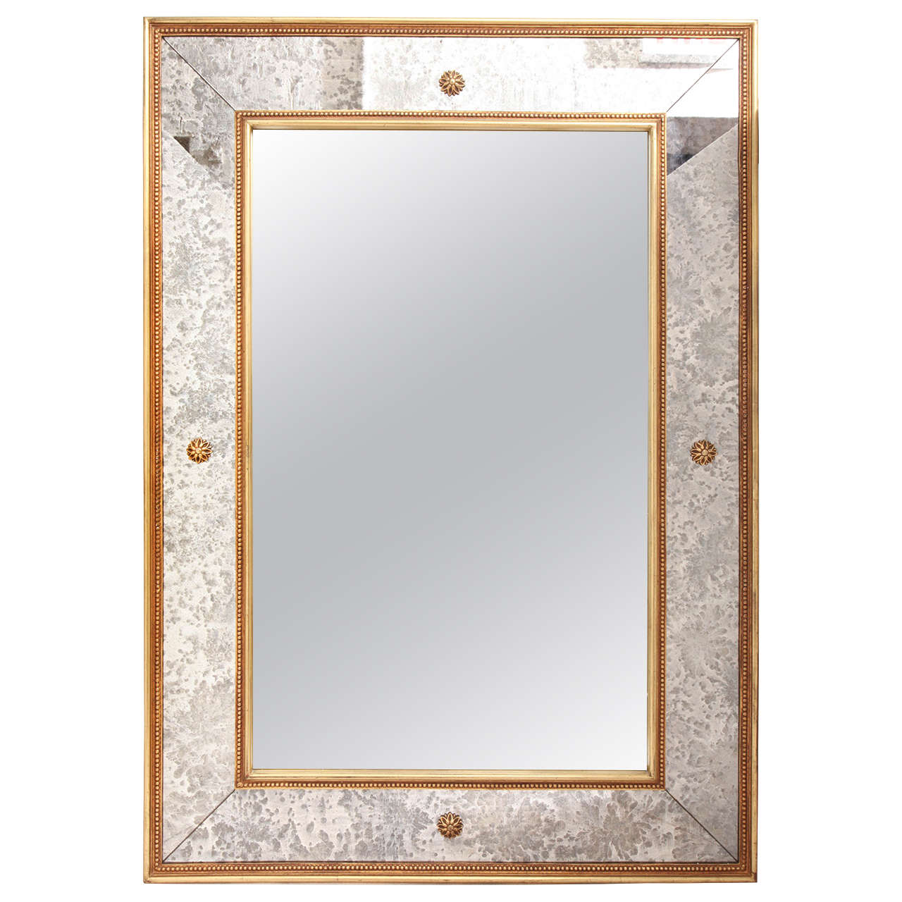 Elegant art deco wall mirror at 1stdibs for Art mirrors for walls
