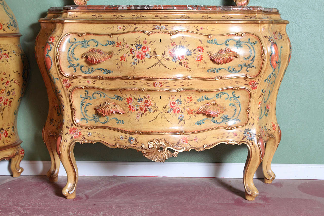 Three piece painted italian furniture set at 1stdibs for Italian painted furniture