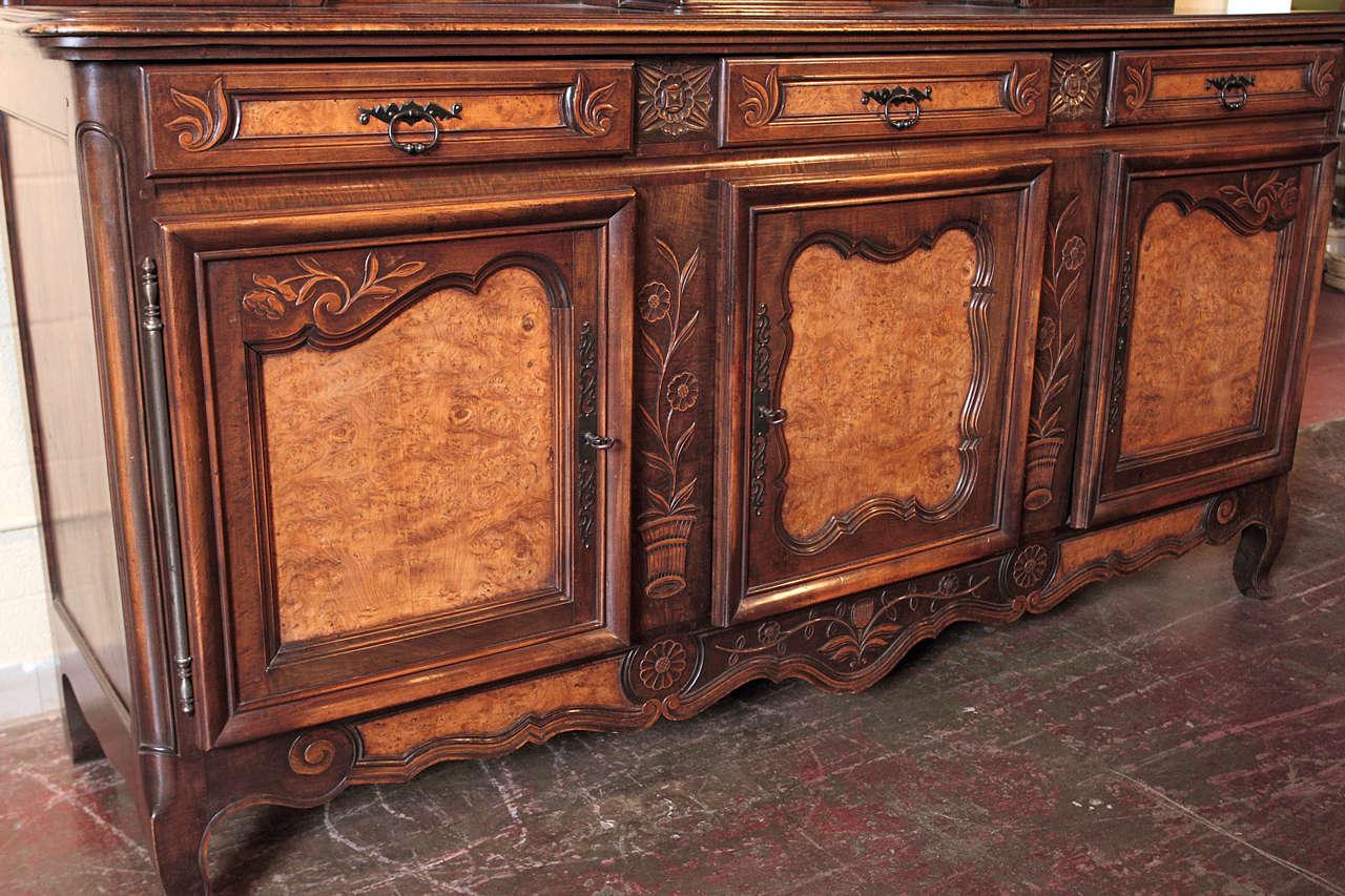 antique walnut french clock vaisselier sideboard at 1stdibs. Black Bedroom Furniture Sets. Home Design Ideas