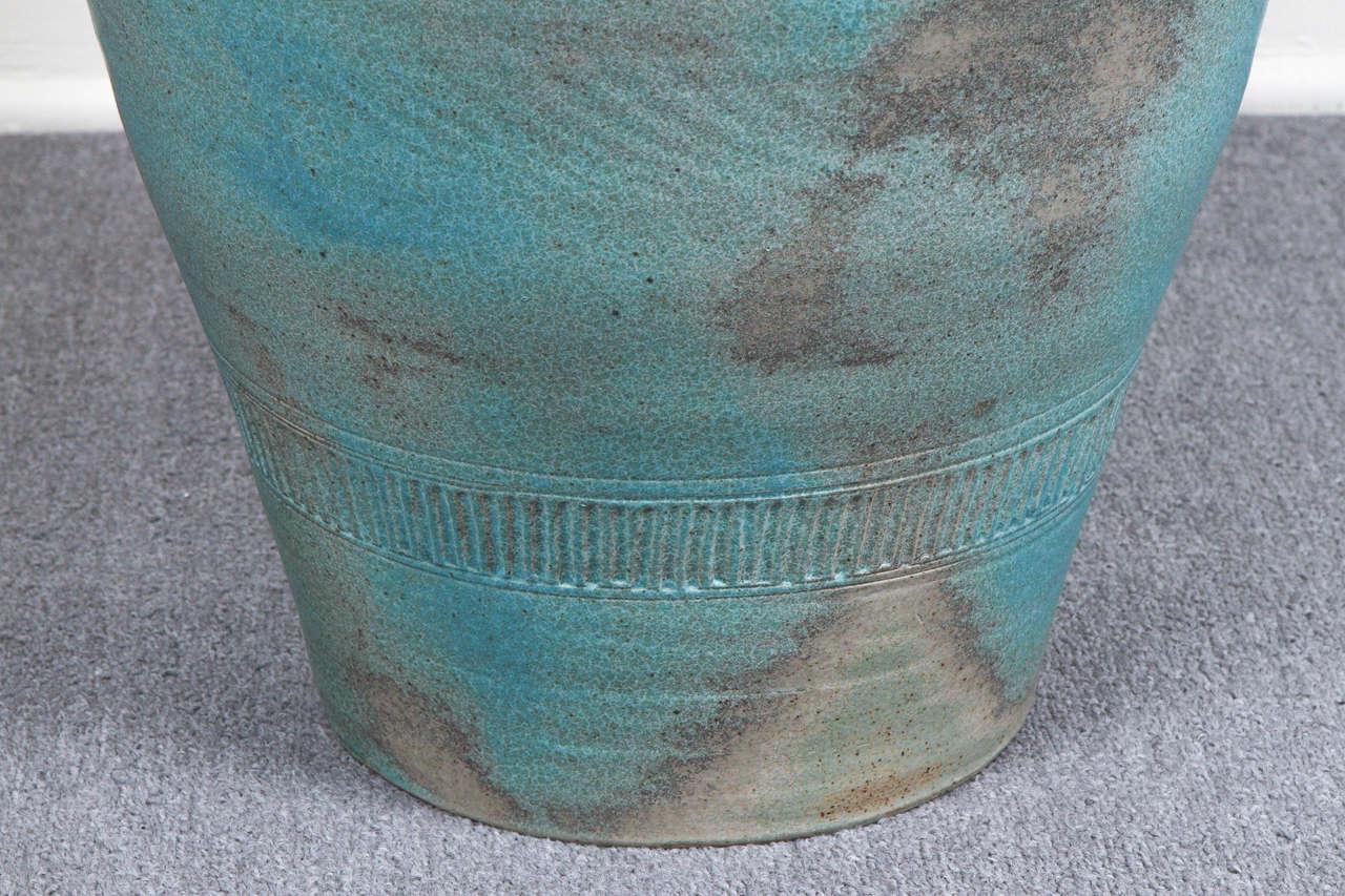 Late 20th Century Monumental Lidded Amphora Style Ceramic Vessel, Custom for Steve Chase For Sale