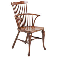 English Fruitwood Windsor Chair