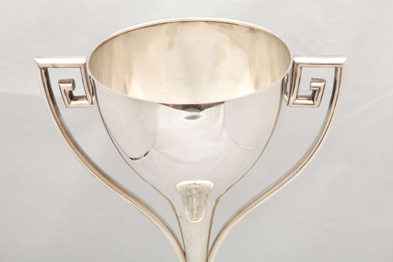 Large Art Deco Sterling Silver Trophy Cup For Sale 3