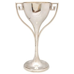 Large Art Deco Sterling Silver Trophy Cup