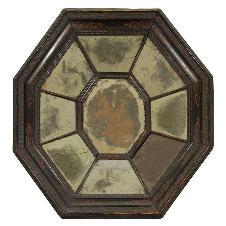 Late 17th century flemish baroque octagonal mirror at 1stdibs for 17th century mirrors