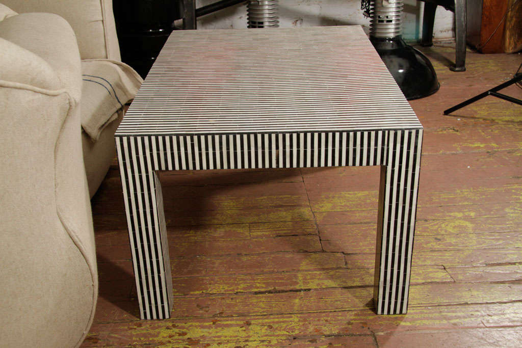 Coffee table home collections furniture tables bedford coffee table - Indian Bone And Ebony Table At 1stdibs