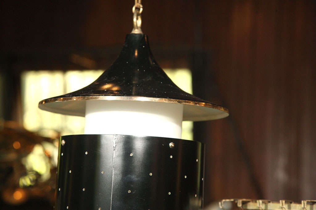 Pagoda Hanging Pendant Light or Chandelier For Sale 2