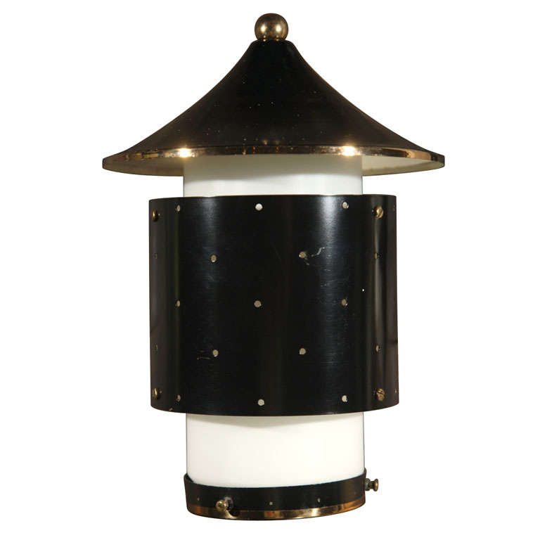 Pagoda Hanging Pendant Light or Chandelier For Sale