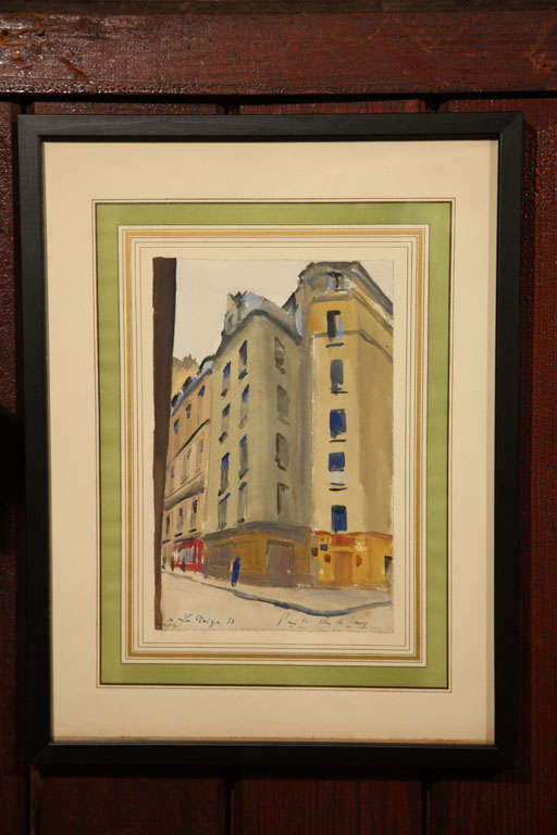 Set of Six French Watercolors In Good Condition For Sale In Stamford, CT